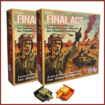 Box Cover of Final Act Board Game with a sneak peak at the tanks inside