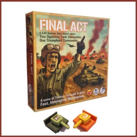 Final Act INSYNC Wooden Tank Strategy Board Game