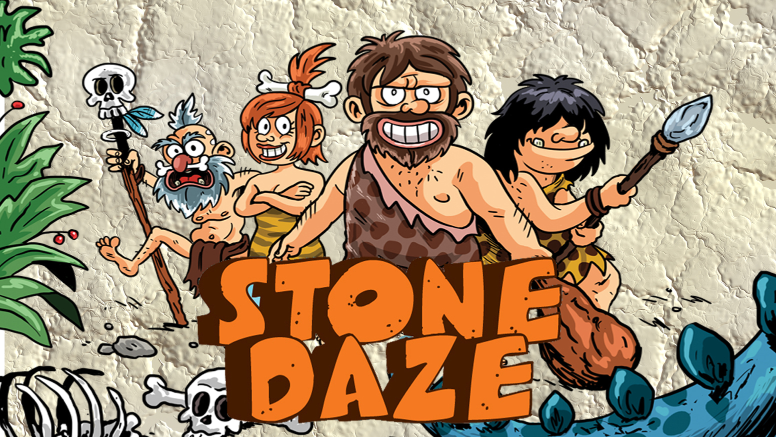 Stone Daze Promo Cover with Stone background