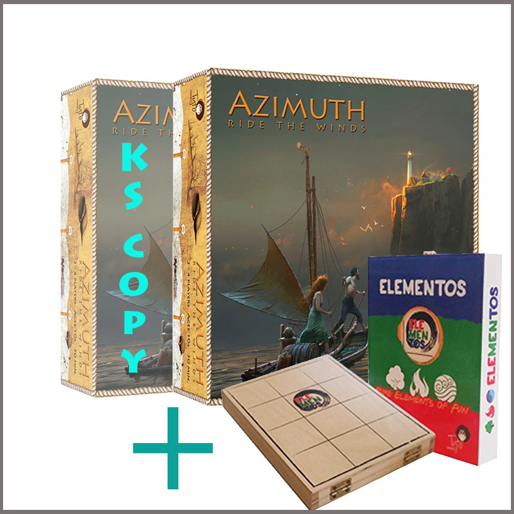 AZIMUTH Ride The Winds box cover with wooden lighthouses