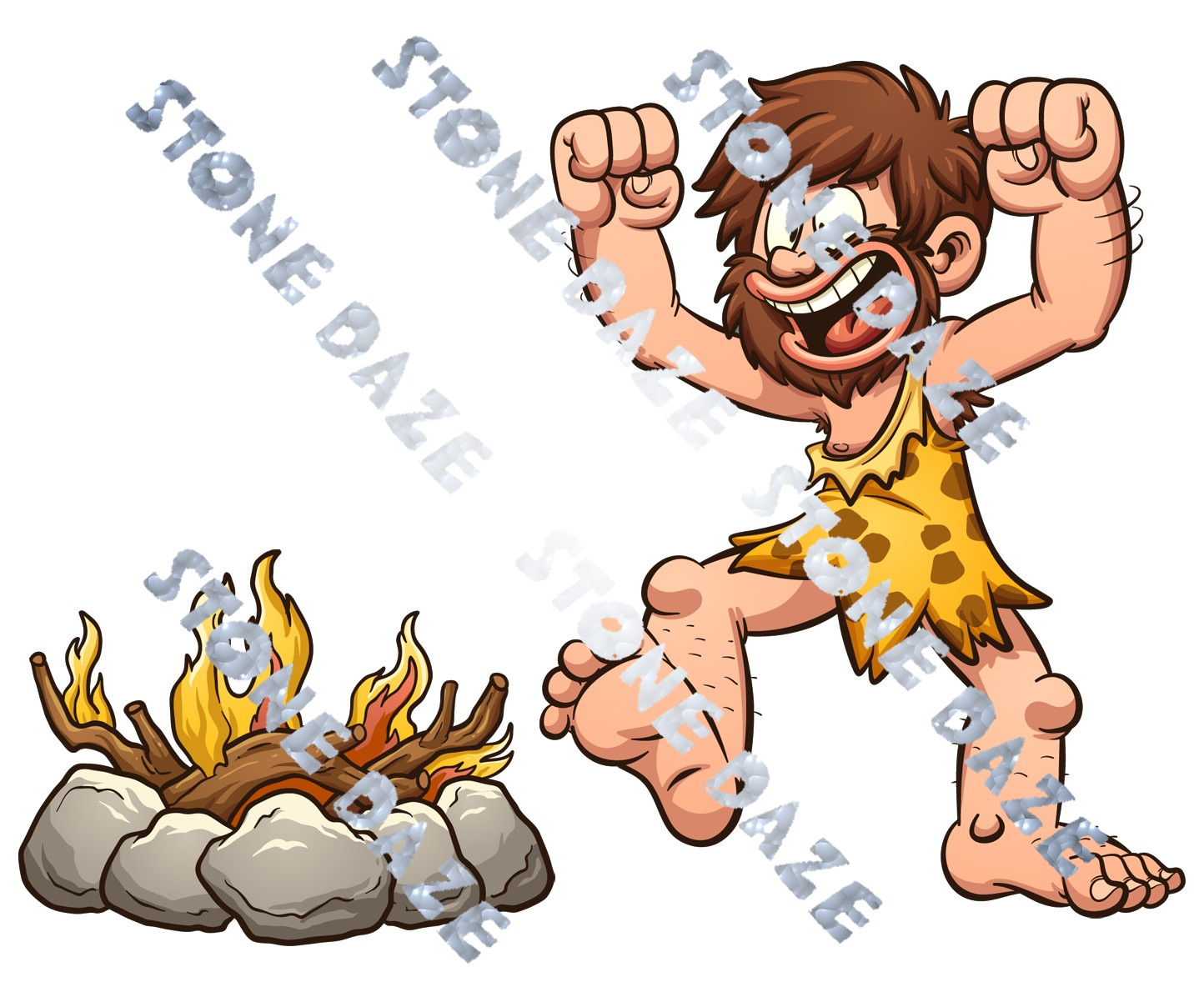 Stone Daze Caveman Fire is Life