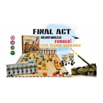 Box Cover of Final Act Tabletop game with a sneak peak at a couple of tanks