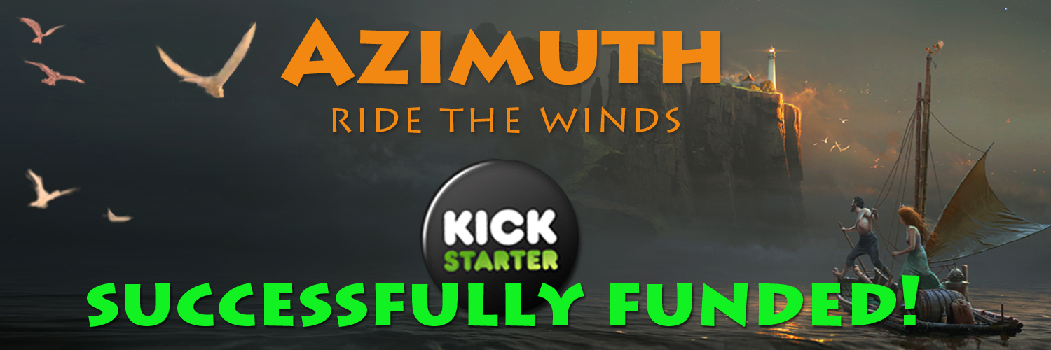 Azimuth boardgame funded on Kickstarter