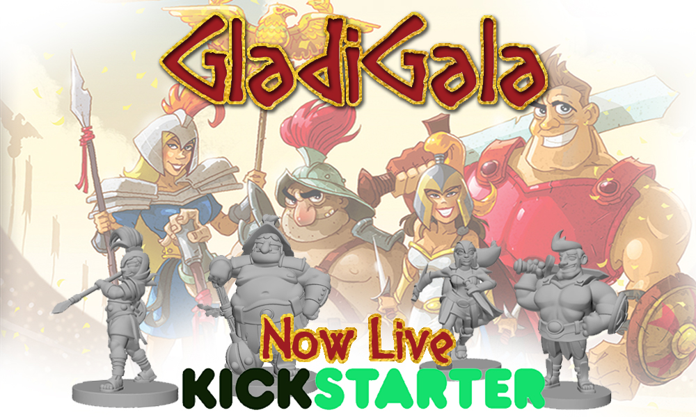 GladiGala party of champions strategy boardgame on Kickstarter